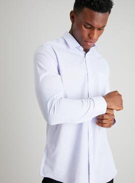 Lilac Stripe Regular Fit Easy Iron Shirt