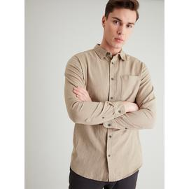 Stone Herringbone Regular Fit Shirt