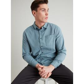 Sage Green Herringbone Regular Fit Shirt