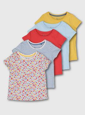 Bright Spring Picnic Short Sleeve Top 5 Pack