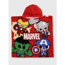 Marvel Avengers Red Hooded Poncho Towel - One Size