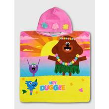 Hey Duggee Pink Hooded Poncho Towel - One Size