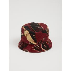 Burgundy Banana Leaf Reversible Bucket Hat