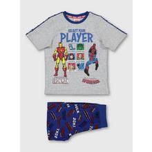 Marvel Comics Avengers Grey Gaming Short Pyjamas