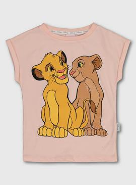 Disney The Lion King Pink Short Sleeve T-Shirt