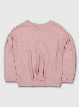 Pink Marl Soft Knit Top