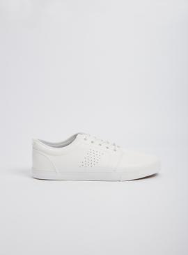 White Lace Up Trainers
