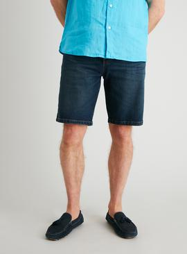 Midwash Denim Straight Leg Shorts