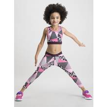 Pink Abstract Print Crop Top & Leggings Set
