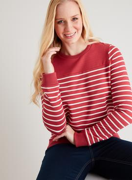 Raspberry Pink Stripe Sweatshirt
