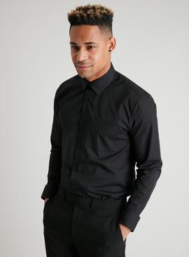 Black Regular Fit Long Sleeve Shirt 2 Pack