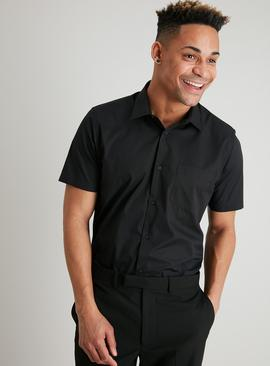 Black Regular Fit Short Sleeve Shirt 2 Pack