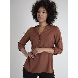 Brown Notch Neck Tunic