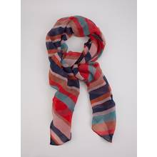 Tropical Brights Pleated Stripe Scarf - One Size
