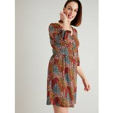 Multicoloured Floral Print Tea Dress
