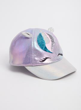 Purple Shiny Unicorn Cap