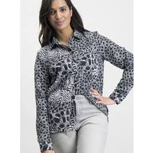 Monochrome Animal Western Shirt