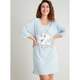 Disney Mrs Potts & Chip Blue Heart Print Nightdress