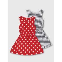Stripes & Spots Jersey Dress 2 Pack