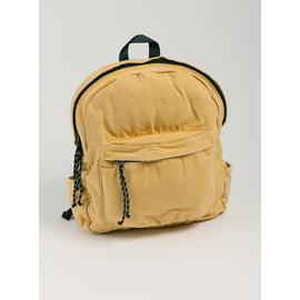 Washed Yellow Pure Cotton Backpack - One Size