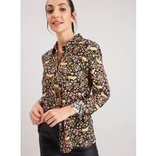 Leopard Floral Western Shirt