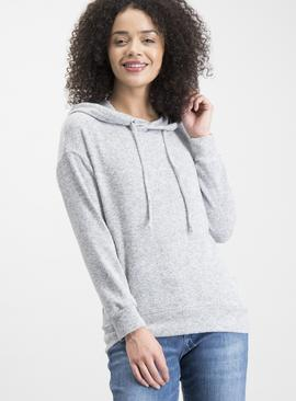 Light Grey Marl Soft-Touch Hoodie