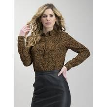 Brown Leopard Print Western Shirt