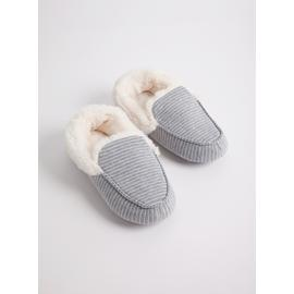 TOTES Pillowstep Grey Jersey Moccasin Slippers
