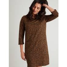 Tan & Black Leopard Print Shift Dress