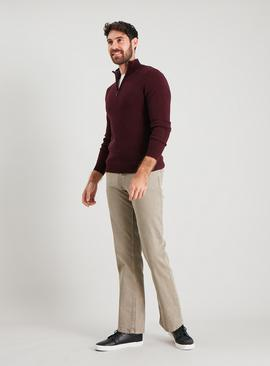 Stone Straight Leg Jeans With Stretch