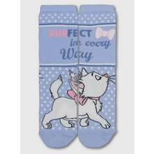 Disney Aristocats Blue Marie Slogan Ankle Socks - 4-8