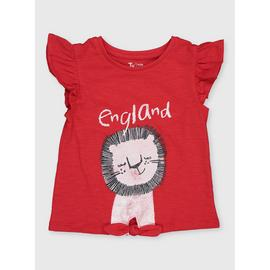 Red 'England' Lion T-Shirt