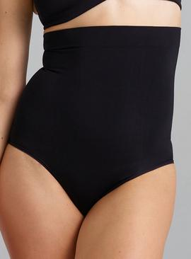 POWERLITE Black High Waisted Seamfree Knickers