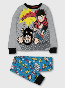Beano Dennis and Gnasher Grey & Turquoise Pyjamas