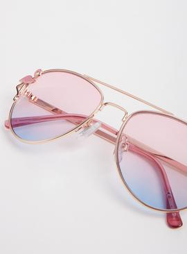Pink Ombré Flamingo Sunglasses - One Size