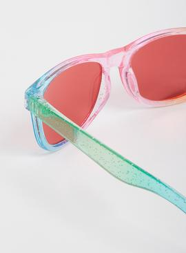 Rainbow Glitter Sunglasses