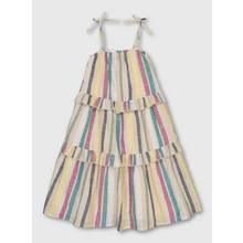 Multicoloured Stripy Woven Dress