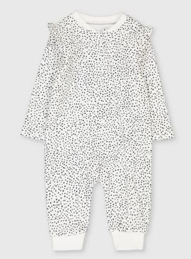 Monochrome Spotted Sleepsuit