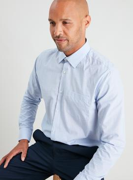 Stripe & Check Regular Fit Shirt 2 Pack