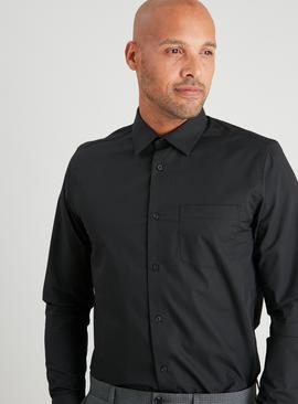 Black Regular Fit Long Sleeve Shirts 2 Pack