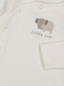 White 'Little One' Elephant Bodysuit