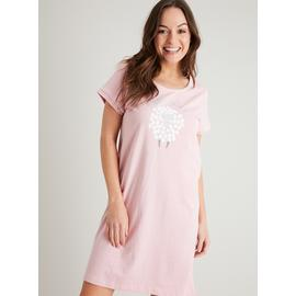 Pink Sheep Slogan Nightdress