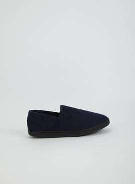 Navy Arch Support Full Slipper