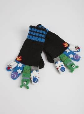 Outer Space Finger Puppet Gloves
