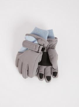 3M Grey & Blue Ski Gloves