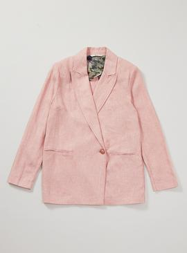Graduate Fashion Week Pink Blazer With Linen