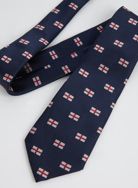Navy England Flag Tie - One Size