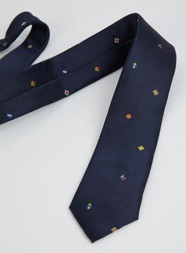 Navy Flag Tie - One Size