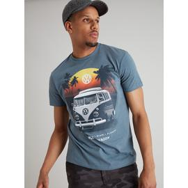 Volkswagen Airforce Blue Marl Camper Van Graphic T-Shirt