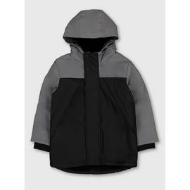 Grey Colour Block Hooded Mac - 3-4 Years